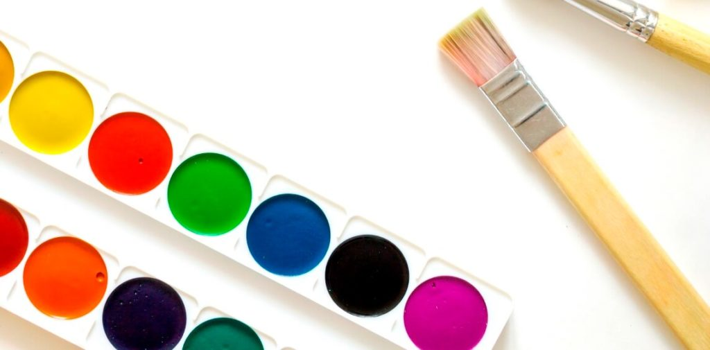 Paintbrush and palette, becoming known as a flexible brand.
