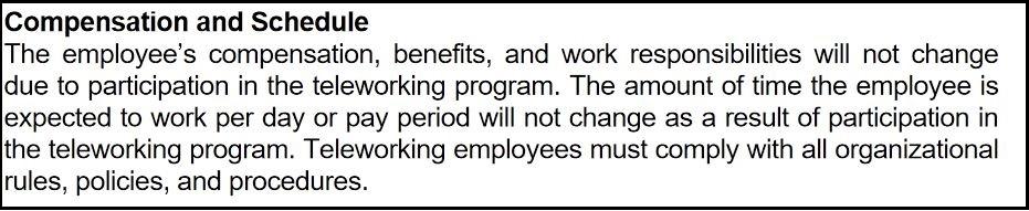 sample policy compensation paragraph Oregon DOE