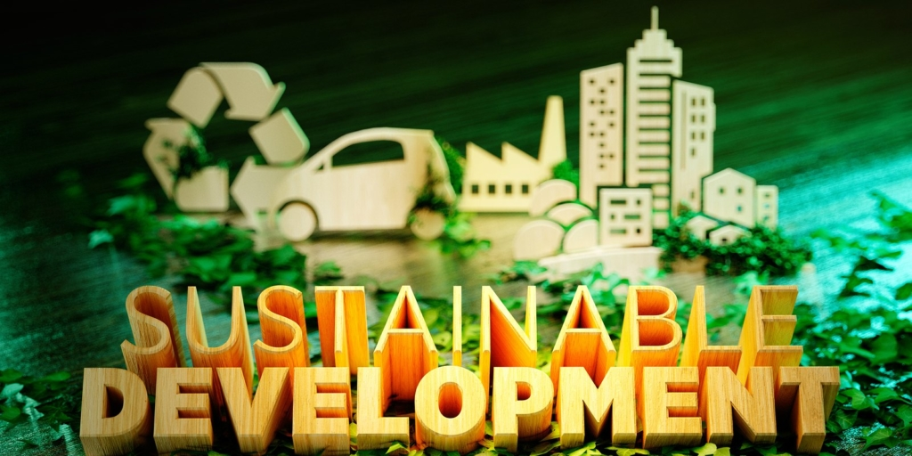 Sign for sustainable employment and sustainability benefits.