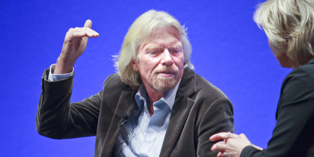 Group of people who want to learn from Richard Branson.