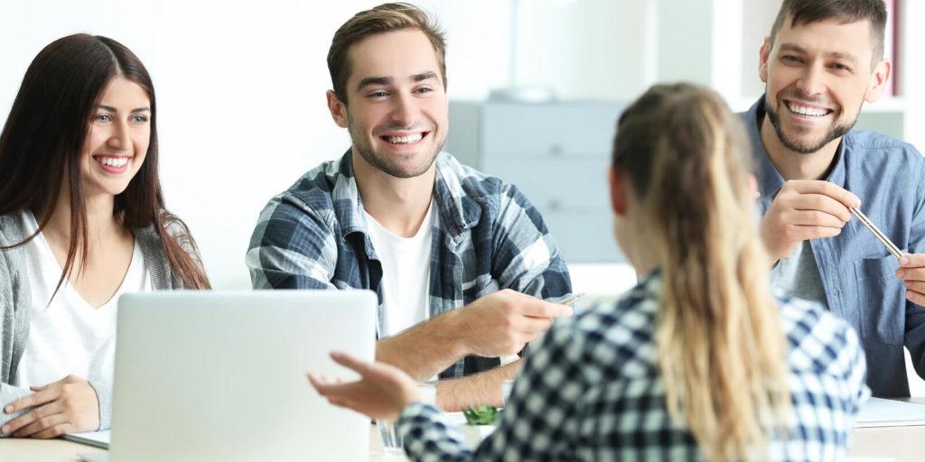 Employers giving job interview feedback.