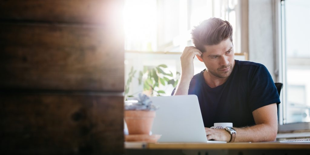Man deciding which employees would be successful as remote workers